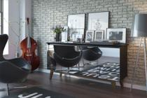 Buffet Com Espelho Classic 66457 - Preto Fosco - Imcal Móveis -