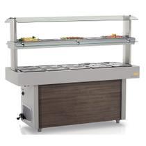 Buffet Térmico e Refrigerado Self-Service GMTR-190 Gelopar -