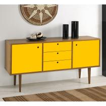 Buffet Vintage 356-0166 Madeira  Amarelo - Mobly