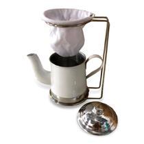 Bule Color C/ Suporte P/ Coador de Café Color 250 ML (BULE BRANCO) - PLUGLAR