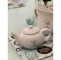 Bule de Porcelana para Chá Branco Sweet Home 1,15L Bon Gourmet -