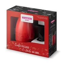 Bule Térmico Vermelho 700ml Sanremo Com Filtro de Café 102 -
