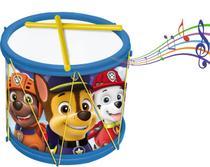 Bumbo Patrulha Canina Tambor Infantil Menino Instrumento Baquetas Divertido Brinquedo Estimula Coordenação Motora - Elka
