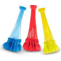 Buncho ballons - acessório para encher balões de água - azul amarelo e vermelho - dtc -