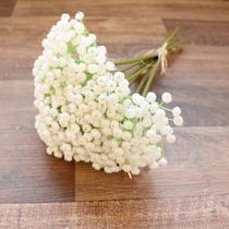 Buquê De Flores Artificiais de Mosquitinho Off White Linha Permanente Formosinha -
