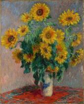 Buquê de Girassóis - Claude Monet - Tela 60x73 Para Quadro - Santhatela