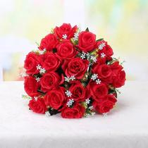 Buquê Rosas Artificial C/24 Flores Arranjo Enfeite Casamento - Mr.Cc