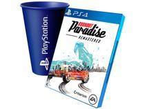 Burnout Paradise Remastered para PS4 - EA + Copo PlayStation Azul