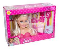 Busto Boneca Barbie Pentear Maquiar Original Com Acessórios - Pupee