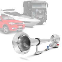 Buzina Marítima de Ar Corneta Universal 12V 24V Cromada para Carros Caminhões Lanchas - Vetor