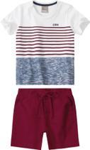 CA 07 - Conjunto Infantil Masculino Camiseta e Bermuda - Tam. 14 - Carinhoso -