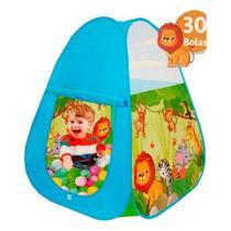 Cabana De Bolinhas Infantil 30 Bolas Azul- BRINCOU BRINQUEI - Inga