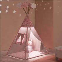 Cabana Infantil Casinha com Led - Branco - Estrela