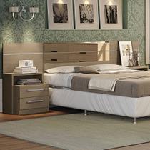 Cabeceira Box Com Criado Mudo Dormitório 2013 B290 Nature Fosco - Móveis kappesberg
