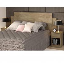 Cabeceira Casal com 2 Mesas de Apoio Dormitórios Decibal Wood -