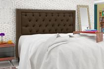 Cabeceira casal king size 1.95 cm baronesa plus sued marrom chocolate - simbal