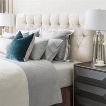 Cabeceira casal paris para cama box 138cm estofada painel expressa móveis - Expressamoveis