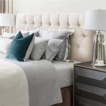 Cabeceira casal paris para cama box 138cm estofada painel expressa móveis -