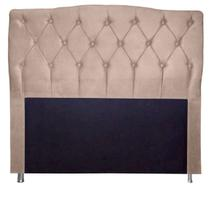 Cabeceira Estofada Para Cama Box Solteiro 90 Cm Princesa - Suede Bege - Monte Rei