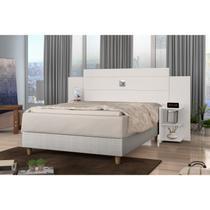 Cabeceira Extensível Casa/Queen com Mesa de Apoio Acapulco J&A Móveis Off White -