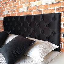 Cabeceira Painel Capitonê Queen 160 X 80 Suede Liso Preto