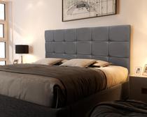 Cabeceira para cama box Casal 1.40 Cinza - CRB Móveis -