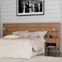 Cabeceira para cama box casal/queen size/king roma gelius 1.40m/1.60m/1.95m madeirado -