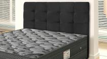Cabeceira Para Cama Box Queen Clean 1600mm - Suede Negro - Simbal