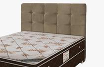 Cabeceira Para cama Box Solteiro Clean 900mm - Suede Marrom Taupe - Simbal -