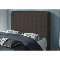 Cabeceira para Cama Casal Box 1,40 cm Califórnia Corano Marrom - JS Móveis -