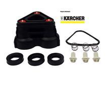 Cabecote karcher ncor original com valvulas, molas anel e gaxetas -