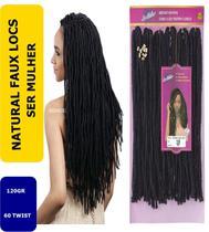 Cabelo Afro Crochet Dread -natural Faux Locs COR 1B - Ser Mulher