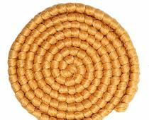 Cabelo crepe de lã p/ bigodes falsos e Pêlos faciais loiro dourado - Lynx Produções Artistica