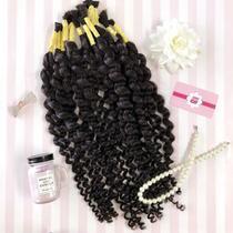 CABELO HUMANO Cacheado n2 Castanho Médio 60 cm (50 gramas) - Bella Hair Cabelos