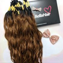 CABELO HUMANO Ondulado Ombré Marina 65 cm (50 gramas) - Bella Hair