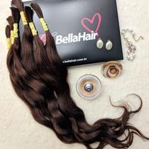 CABELO HUMANO Ondulado Paola 60 cm (50 gramas) - Bella Hair