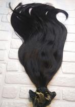 Cabelo Mega Hair (Aplique Alongamento Extensão) Fita Adesiva Super Finas Vietnã 50g 60cm Castanho Virgem Natural - Tropical Hair Brazil