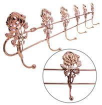 Cabide Gancho Aramado Rosa Com 6 Ganchos Metalizado Rose Gol - Saz comercio