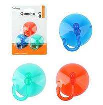 Cabide Gancho Multiuso Colors Com Ventosa Kit Com 3 Pecas Na Cartela - Wellmix