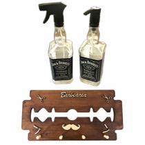Cabide Gilete Barbeiro Saboneteira Borrifador Jack Daniels Barber Shop Personalizado - Jjveras