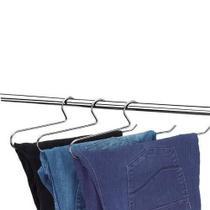 Cabide Para Calça Cromado - Kit Com 12 Unidades - Arthi -