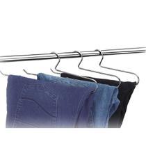 Cabide Para Calça Cromado - Kit Com 3 Unidades - Arthi -