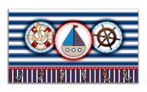 Cabideiro de Parede Porta Chaves Toalhas Marinheiro - Mar 4 - Formalivre