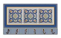 Cabideiro de Parede Porta Colar Chaves Cintos Toalhas - Azulejo Azul - Formalivre