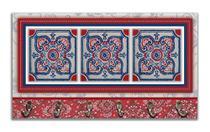 Cabideiro de Parede Porta Colar Chaves Cintos Toalhas - Azulejo Vermelho - Formalivre