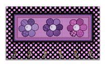 Cabideiro de Parede Porta Colar Chaves Cintos Toalhas - Flores - Formalivre