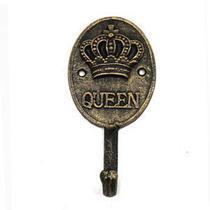 Cabideiro ferro queen crown dourado 16,3 x 8,5 14,3 cm - Urban