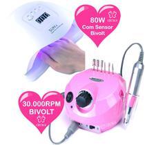 Cabine UV LED SunX Led Uv 80w e Lixa Eletrica Porquinho 30.000RPM Gecika - Sun5