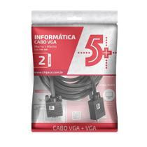 Cabo 5+ VGA + VGA 2m com Filtro Preto 018-9511 PIX -