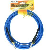 Cabo 5mts P10 + P10 Violão Guitarra Baixo Ebenézer Master RGM05 Azul -